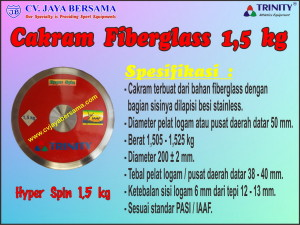 Cakram Fiberglass 1,5 kg